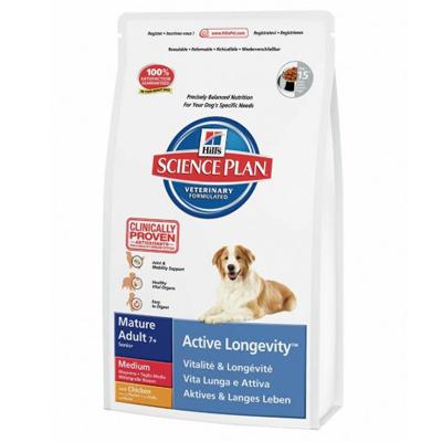 Hills Canine Mature +7 Medium Chicken-Храна за възрастни кучета над 7 год. от Средните породи