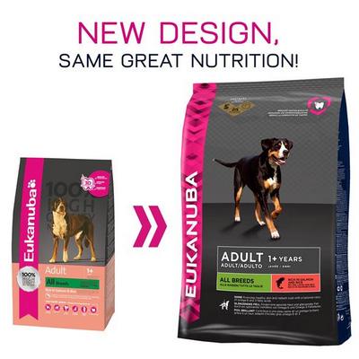 Eukanuba Adult All Breed Salmon & Rice - Храна за израстнали кучета от всички породи със Сьомга и Ориз