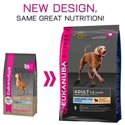 Eukanuba Adult Large Breed Lamb & Rice- Храна за израстнали кучета от големите породи с агне и ориз