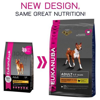 Eukanuba Adult Medium Breed - Храна за израстнали кучета от средните породи