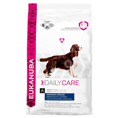 Eukanuba Daily Care Weight Care-Храна за Кастрирани Кучета или с Наднормено Тегло