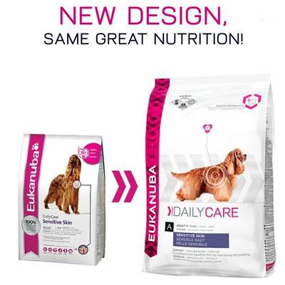 Eukanuba Daily Care Sensitive Skin - Висококачествена Храна за Кучета с Чувствителна Кожа