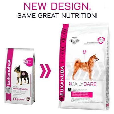 Eukanuba Daily Care Sensitive Digestion - Храна за израстнали кучета с чувствителен стомах и храносмилане